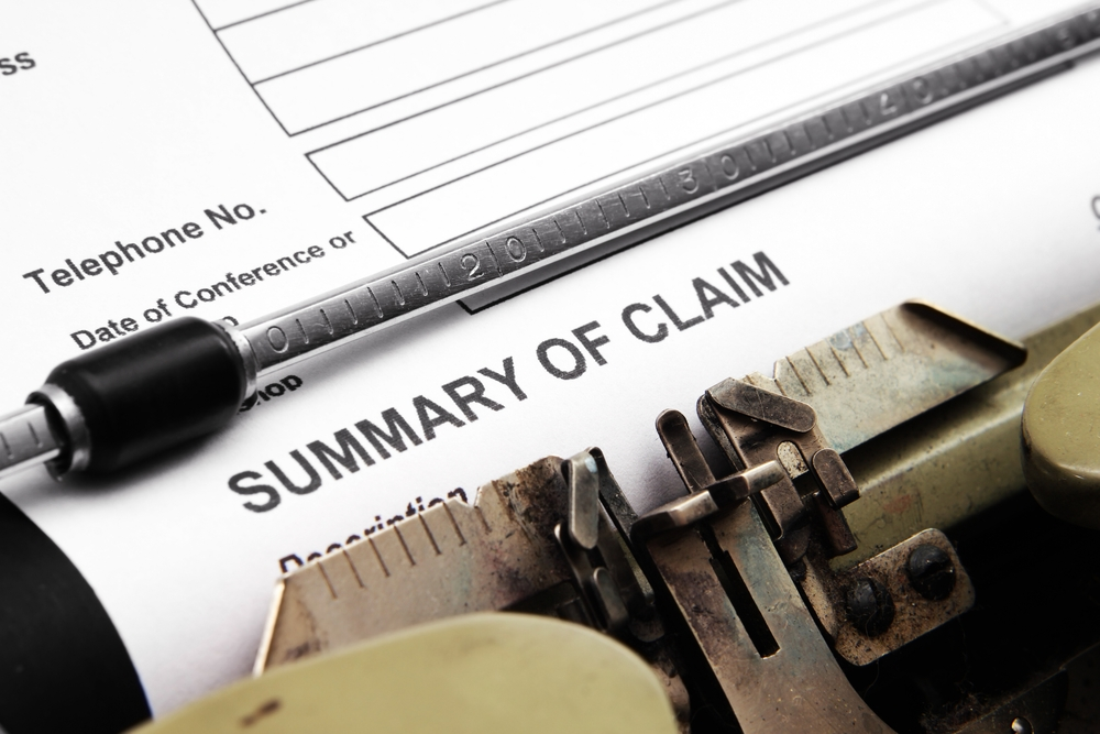 Paper copy of a claim form