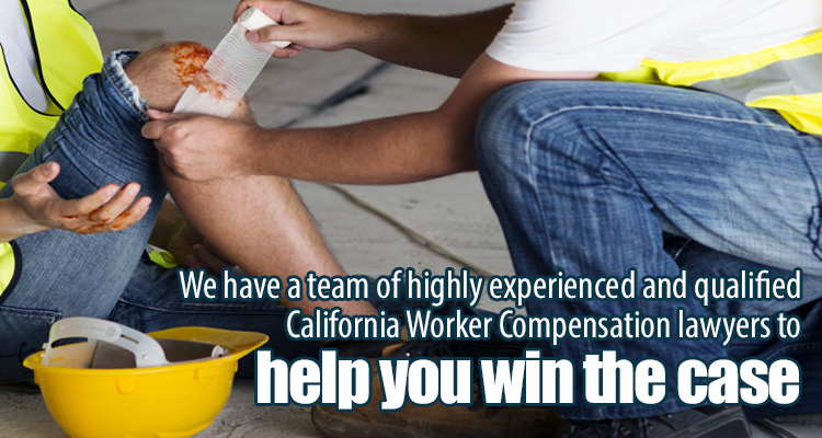 Injured man that will file for worker's compensation in Rancho Cucamonga, CA